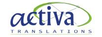 logotipo activa translations